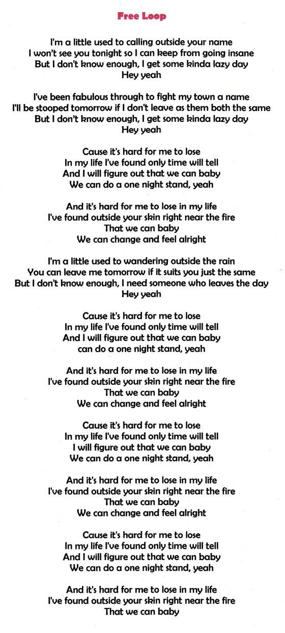 Lyric day n night lyrics : He's HOT, isn't he` | >.fondas Bits n Pieces.<